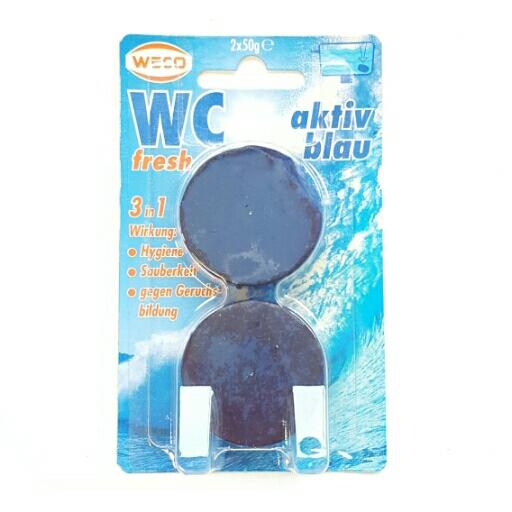 Weco WC fresh aktiv blau, 3 in 1 Wirkung