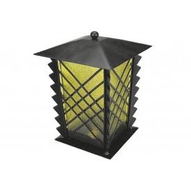 Moll Stahlgrablampe m. Echtglas Antik gelb