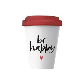 Chic-mic Becher Coffee to Go BambooCUP* Happy Calligraphy