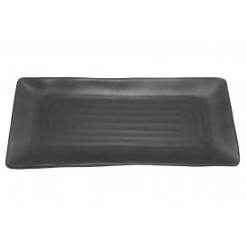 Q Squared Sushiplatte 30,3x12,8x1,8cm schwarzmatt
