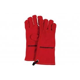 Feuermeister ® Grillhandschuh Leder Gr.10 rot 1Paar