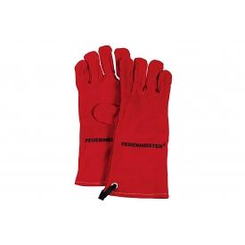 Feuermeister ® Grillhandschuh Leder Gr.8 rot 1Paar