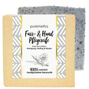 Puremetics Seifen Hand- und Fusspflege-Seife Aloe Vera Mohn
