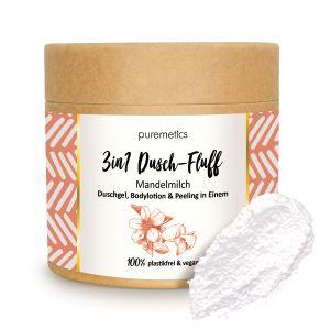 Puremetics Seifen 3in1 Dusch-Fluff mit Zuckerpeeling (Mandelmilch)