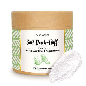 Puremetics Seifen 3in1 Dusch-Fluff mit Meersalzpeeling (Limette)