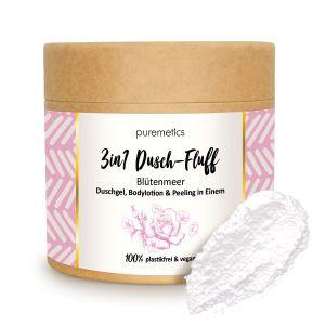 Puremetics Seifen 3in1 Dusch-Fluff mit Zuckerpeeling (Blütenmeer)