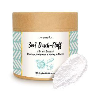 Puremetics Seifen 3in1 Dusch-Fluff mit Meersalzpeeling (Vibrant Seasalt)