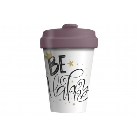 Chic-mic Becher Coffee to go BambooCUP* Be Happy