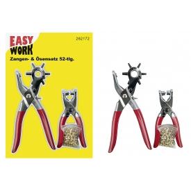 Easy Work EW Zangensatz 2-tlg., Lochzange,  von 2.5 mm bid 5 mm, Nietezange mit 50 Lochnie
