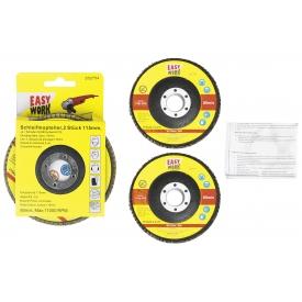 Easy Work EW Schleifmoptellersatz, 2 Stück 115 mm