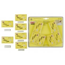 Easy Work EW Ersatzklammernsortiment, 3000 Klammern, je Pack 500 Klammern, je 2 Pack 6 und