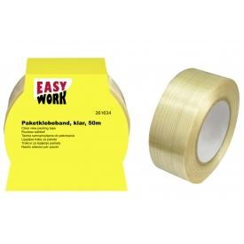Easy Work EW Paketklebebandrolle, glasfaserverstärkt 50mm:30m
