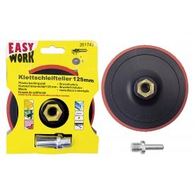 Easy Work EW Schleifteller 125mm mit Klett, mit 6mm Schaft