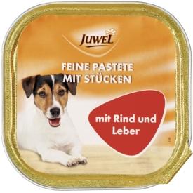 Juwel Hundefutter Feine Pastete mit Stücken mit Rind und Leber