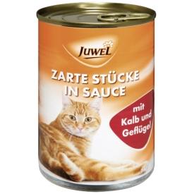 Juwel Katzenfutter Zarte Stücke in Sauce mit Kalb und Geflügel