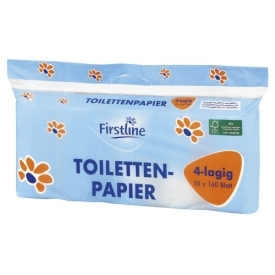 Firstline Toilettenpapier 4lagig 10 x 160 Blatt