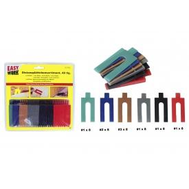 Easy Work EW Distanzplättchensortiment aus Kunststoff in 6 Größen (48st.)
