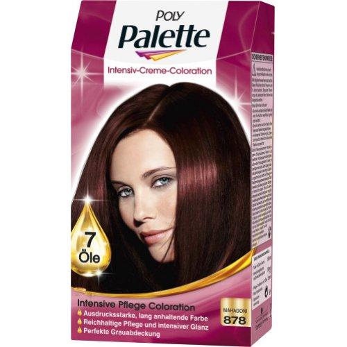 haarfarbe poly palette dauerhafte haarfarbe intensive creme coloration mahagoni 878 1 stk. Black Bedroom Furniture Sets. Home Design Ideas