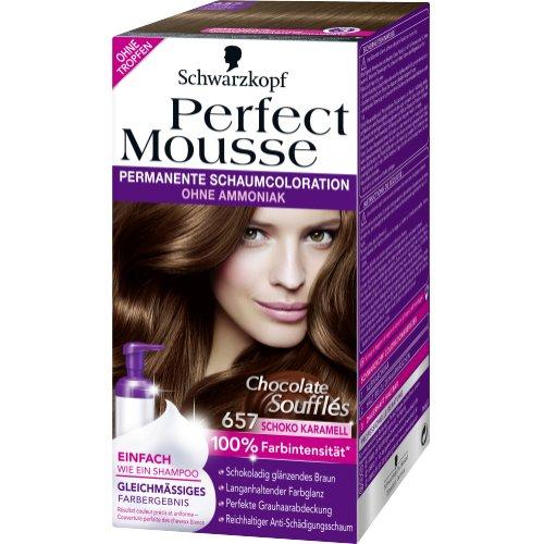 Schwarzkopf Perfect Mousse Haarfarbe 657 Schoko Karamell