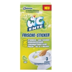 WC Ente Frische-Sticker Lime