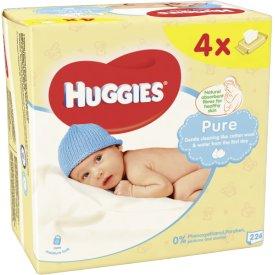 Huggies  Pure feuchte Tücher Multipack 4x 56 Stk