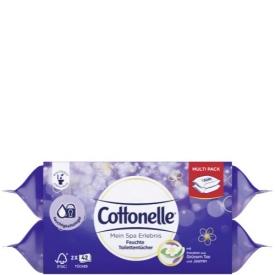 Cottonelle Feuchte Toilettentücher mein Spa Erlebnis mit Grünem Tee und Jasmin Extrakten