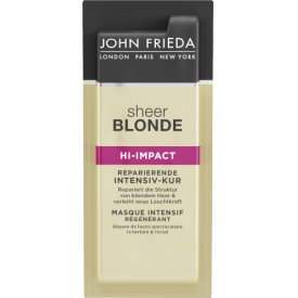 John Frieda Sheer Blonde HI-Impact Kur Sachets Intensiv-Kur für gestärktes Haar & glänzen
