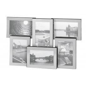 Galerierahmen Portland Aluminium für 6 Fotos à 10x15cm 31x48cm silber