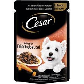 Cesar Hundefutter Feines im Frischebeutel Rind Karotten in Sauce