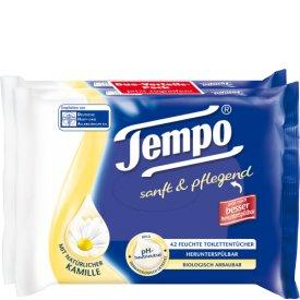 Tempo Feuchte Toilettentücher sanft & pflegend mit beruhigender Kamille Nachfüller