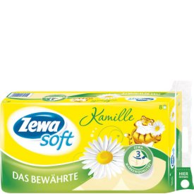 Zewa Soft Das Bewährte Kamille 8 Stück