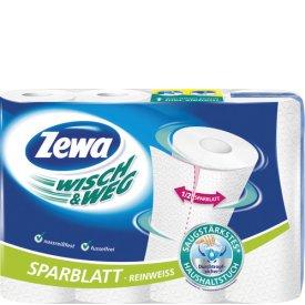Zewa Haushaltstücher Wisch und Weg Reinweiss 4 Stück a 68 Sparblätter
