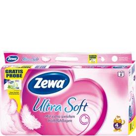 Zewa Toilettenpapier Ultra Soft 4 lagig, 8 x 150 Bl
