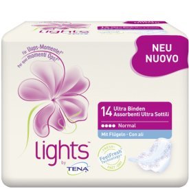 Tena Damenbinden LIGHTS BY TENA Ultra Binden normal mit Flügel