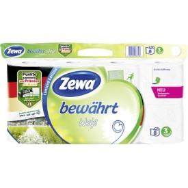 Zewa Toilettenpapier bewährt weiss 3lg 8x150Bl