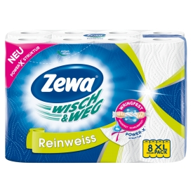 Zewa Küchentücher Wisch&Weg Reinweiss 8x45 Blatt