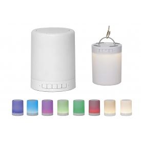 Best Season Bluetooth-Lautsprecher mit LED-Licht H12,2cm ø9,5cm incl. Akkus