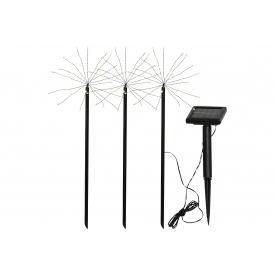 Best Season LED-Solarstab Firework Kunststoff 100x14x40cm schwarz 3er Satz