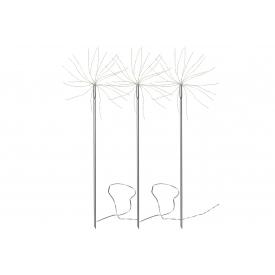 Best Season LED-Dekostab Firework Metall mit Trafo 200x27x65cm silber 3er Satz