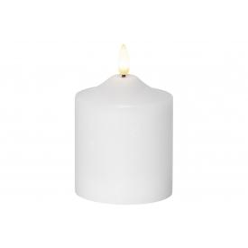 Best Season Kerze Flamme LED mit Timer 12x7,5cm weiß
