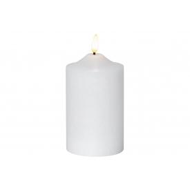 Best Season Kerze Flamme LED mit Timer 15x7,5cm weiß