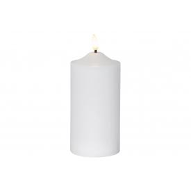 Best Season Kerze Flamme LED mit Timer 17x7,5cm weiß