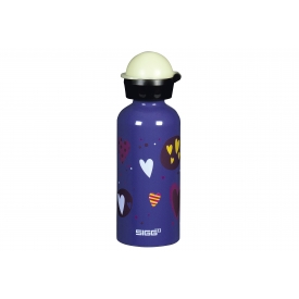 Sigg Trinkflasche Glow Heartballoons 0,4 l lila