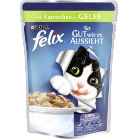Felix Katzenfutter So gut wie es aussieht mit Kaninchen in Gelee