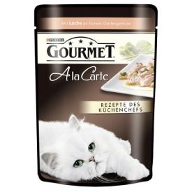 Gourmet A la Carte Katzenfutter Lachs an feinem Gartengemüse