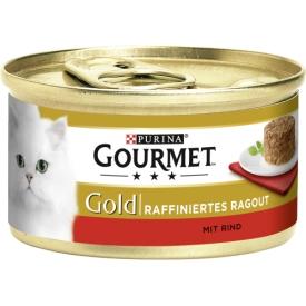 Gourmet Gold Katzenfutter Raffiniertes Ragout Rind