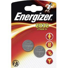 Energizer Knopfzellen-Batterie CR2032 3 Volt Lithium