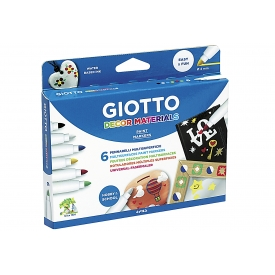 Giotto Fasermaler Decor Materials 6er Kartonetui