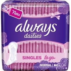 Always Dailies Singles To Go Slipeinlagen Geruchsneutralisierung