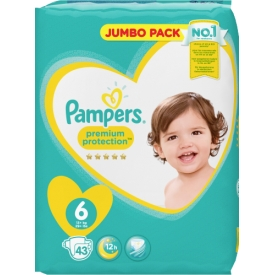Pampers Premium Protection Größe 6 Extra Large 15+kg Jumbopack